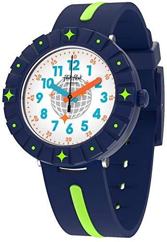 Flik Flak Jungen Analog Quarz Uhr mit Textil Armband FCSP090