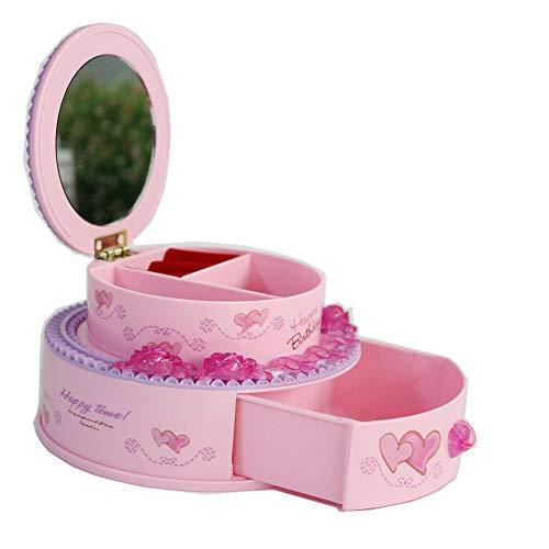1a14315f0a FunnyGoo Pink Jewelleries Keys Scatola di immagazzinaggio di piccole cose  Scatola di specchio per gli effetti