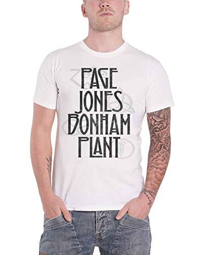 Led Zeppelin T Shirt Page Jones Bonham Plant Band Logo Nue offiziell Herren