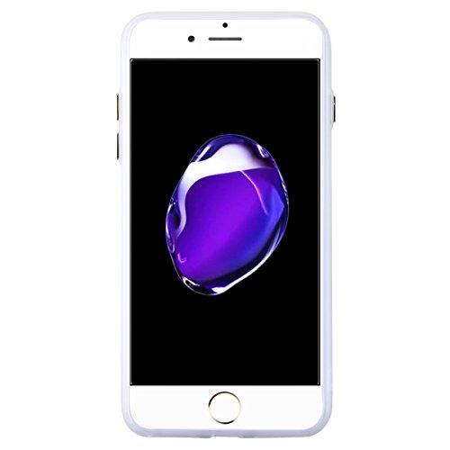 We Love Case TPU Coque pour Apple iPhone 7 Housse Lumineux Vert Fluorescent Etui Souple Transparente Silicone Gel Coquille Lumière Luminescente Slim Mince Soft Protecteur Case Caoutchouc Housse - Pein Dentelle Noire