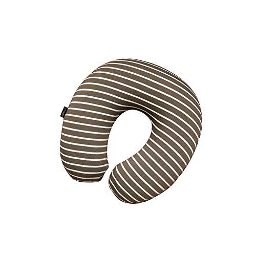 Siesta Streifen (Huayer 378/5000 Reisekissen Auto Kopfstütze Lendenwirbelsäule Einfache Streifen Siesta Kissen Reisekissen U Kissen Nackenkissen Nackenstütze Gedächtniskissen Curve Design (Farbe: dunkle Kaffeefarbe))