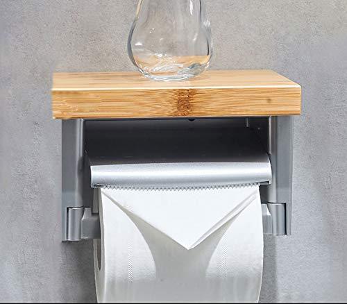 Roktong porta carta igienica portasciugamani portarotolo portarotolo da bagno portasalviette in bambù portatovaglioli creativi portarotolo di carta igienica