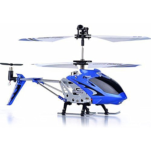 Syma S107G 3CH RC Radio Mini Alloy Remote Control Helicóptero with Gyro Genuine Azul
