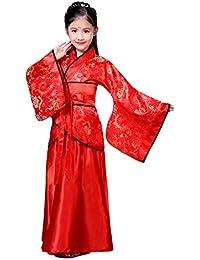 49bed691dc5cd Meijunter Chinois Traditionnel Hanfu Robe - Fille Rétro Classique  Performance sur scène Jupe féerique ...