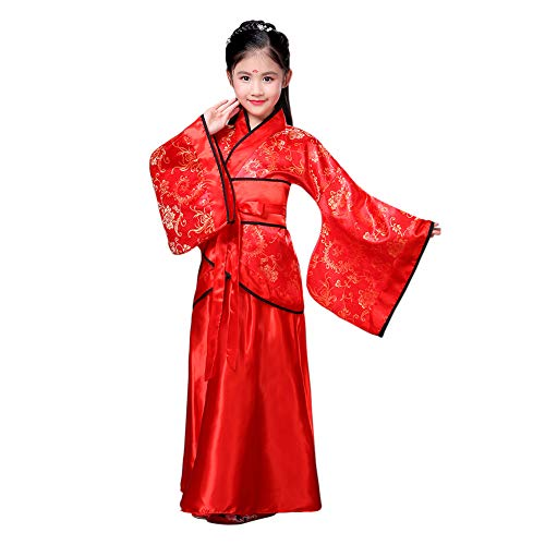 Hzjundasi Chinesisch Uralt Hanfu Kleid für Mädchen - Traditionell Bühnenperformance Tang Anzug Kostüm