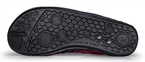 S&L , Chaussures aquatiques pour homme rose rouge