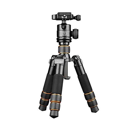 WMIAO Treppiede Fotocamera, 21,8'/555Mm Portable Travel Low Carbon Fibra Treppiede per Fotocamere Reflex Canon Nikon, Standard di Carico 11 Lb/5KG
