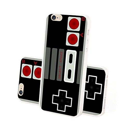 4-punkt-dual-link (FINOO ® | Iphone 5 / 5S Hardcase Handy-Hülle | Transparente Hart-Back Cover Schale mit Motiv Muster | Tasche Case mit Ultra Slim Rundum-schutz | stoßfestes dünnes Bumper Etui | Gamepad NES)