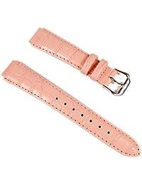 Casio 10130771 - Correa para reloj, piel, color rosa