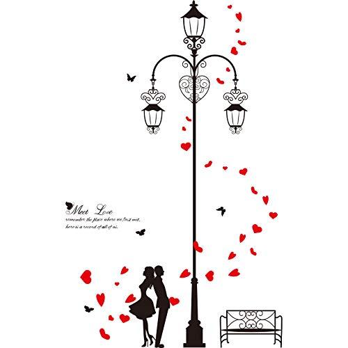 SHIJUEHEZI C Couples Stickers Muraux Amoureux de Bricolage Stickers Muraux pour Le Magasin de la Chambre Magasin Valentine & # 39; s Décoration de Jour