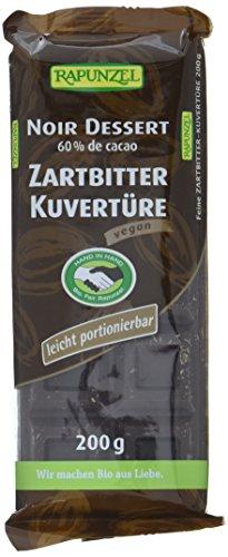 Rapunzel Zartbitter Kuvertüre HIH, 4er Pack (4 x 200 g) – Bio
