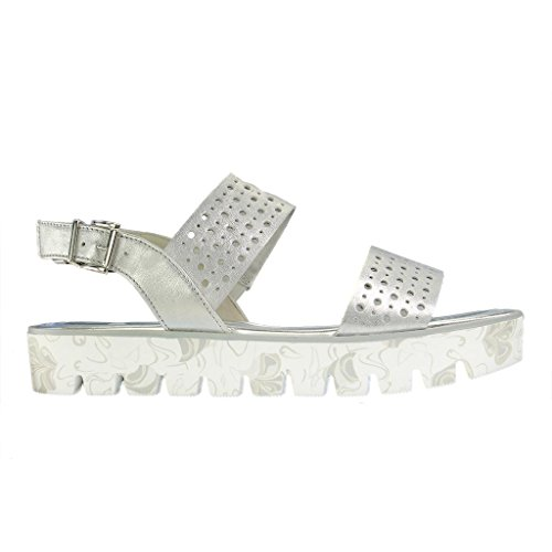Gabor Fashion, Sandales Bout Ouvert Femme Blanc (ice 61)