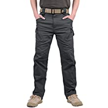 MAGCOMSEN Mens Cargo Combat Work Trousers Military Outdoor Training Shooting Cargo Trousers Gray 38