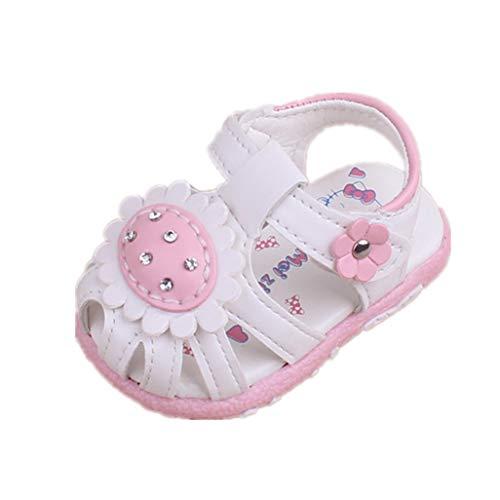 Auxma Sandalias Suaves para bebés niñas,Calzado Antideslizante de Verano para niños pequeño,Primeros...