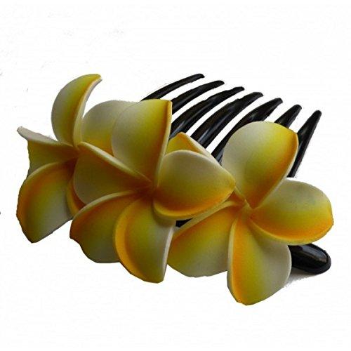 Peigne à cheveux frangipane - Taille unique, Jaune