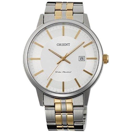 Orient Homme 40mm Bracelet Acier Bicolore Quartz Analogique Montre FUNG8002W0