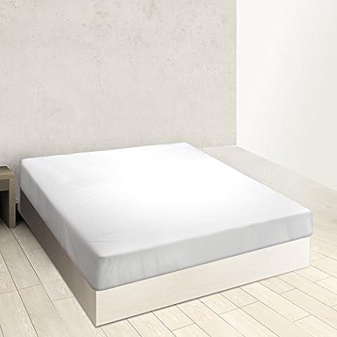 Burrito Blanco - Sábana bajera ajustable A8 para cama de 160x190/200 cm, color blanco