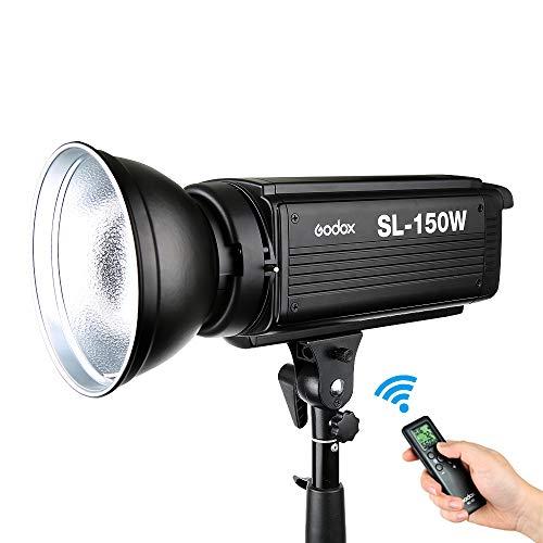 Godox 150W LED-Videoleuchte SL-150W, Bowens Mount 5600K 20000LUX, Studio-LED-Videolampen für DSLR-Kameras usw. (Weißlichtversion) -