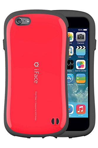 iFace First Class 5.5 inch Case for iPhone 6 Plus - Verizon, AT&T, T-Mobile, Sprint, International, and Unlocked - Apple New iPhone 6 Plus Case 2014 Model 5.5 inch (Orange) Red