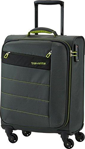 Travelite Valise à Roulette Kite avec 4 Roues, 54 cm, 36 L, Olive