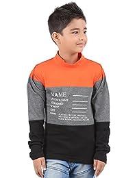 BodyGlove Boy's Cotton High Neck Full Sleeves T-Shirt