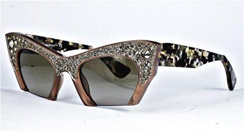 Miu Miu Damen Sonnenbrille Raisor MU02QS, Braun (Talc TV01X1), One size (Herstellergröße: 50) (Miu Beige Sonnenbrille Miu)