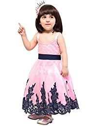 a4fb535a5 Samsara Couture Baby Girls Full Length Party Wear Ball Gown Sleveeless Dress