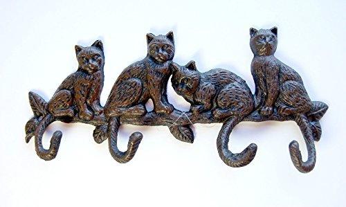 Gusseisen vier Katzen Schlüsselbrett