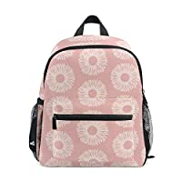 Small School Bag Pink Flower Pattern Backpack for Girl Boy Children Mini Travel Daypack Primary Preschool Student Bookbag