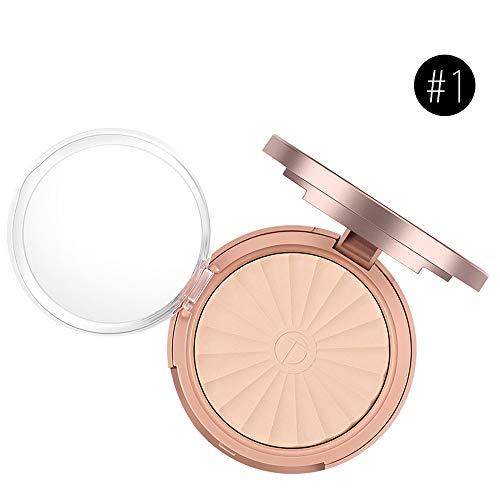 Amuster_Concealer Compact Powder Base Maquillage Compacte Couverture Taches de rousseur et Cercles Noirs Poudre légère et Respirante Huile de contrôle de Maquillage correcteur de lumière