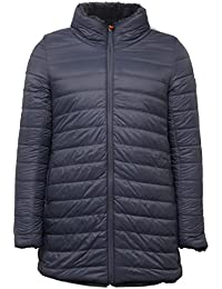 Save the duck E7260 Piumino Donna Grey Double Face ecofur Jacket Woman