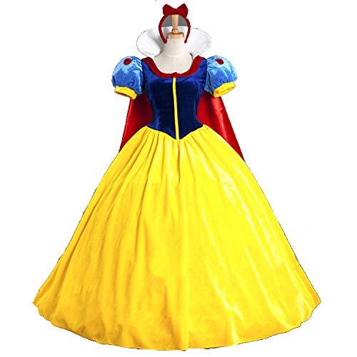 DASENLIN Abbigliamento Donna, Abbigliamento Donna Halloween, Adulto Sexy Cape Biancaneve Costume, Gioco di Ruolo Uniforme Set,M