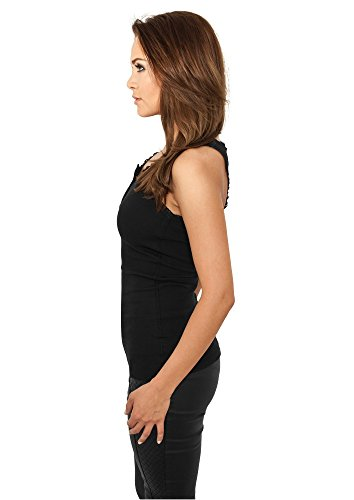 Urban Classics Ladies Button Laces Grey / Black Black