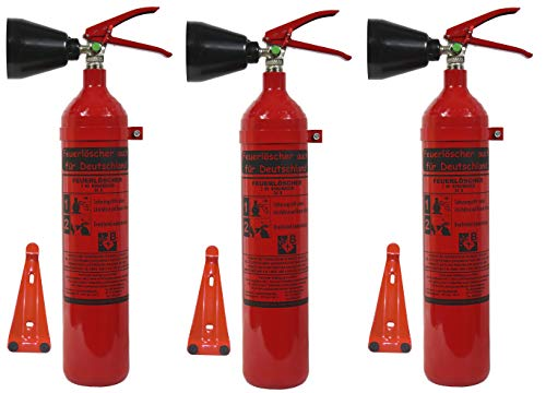 CO2 Feuerlöscher, 2kg - Dreierpack