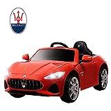 mecor Maserati 12V Voiture Electrique pour Enfants avec Télécommande, MP3, lumière, Rouge