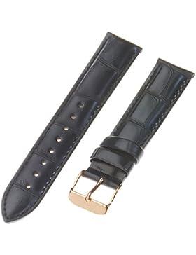 Daniel Wellington Unisex Zubehör Andere Bänder Uhrenband Leder Schwarz DW00200123