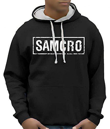 Sons Of Anarchy Redwood Samcro felpa con cappuccio-Colori assortiti Taglia S M L XL nero L