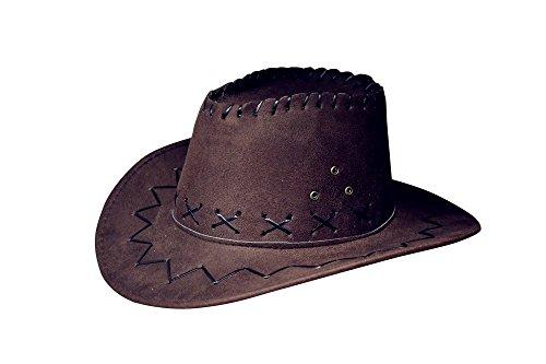 (Cowboyhut Westernhut Cowgirl Australien Texas Cowboy Hut Hüte Western für Erwachsene und Kinder (One Size, Schwarzbraun für Kinder))
