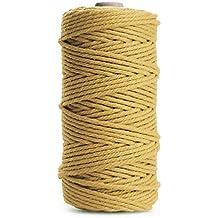 TOPWA - Cordón de macramé para colgar en la pared, para manualidades, tejer,