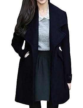 El Abrigo Para Mujer Del Abrigo De Invierno Chaqueta Con Cremallera-Decoración