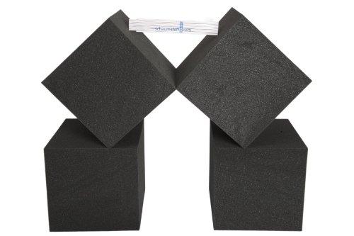 4 Stück Schaumstoff Würfel 25x25x25cm Bausteine für Kinder, Dekowürfel, Therapiehilfe