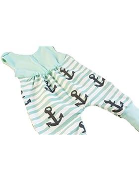Atelier MiaMia - Mitwachs Strampler Baby Kind von 50, 56, 62, 68, 74, 80, Designer Strampler Limitiert !! Anker...
