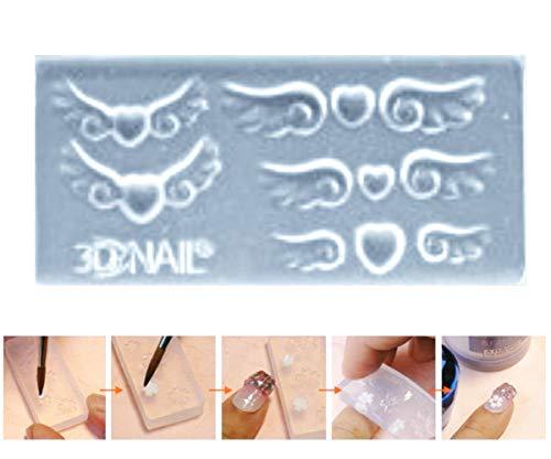 ngel Flügel Herz Liebe Valentine 3d Mini-Silikon-Form Für Nail-Art-Kleine Diy-Resin-Form FIMO Miniatur-Fee ()