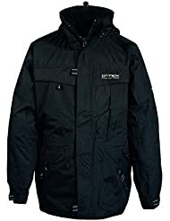 Hombres activos Deproc 3-en 1 chaqueta impermeable, chaqueta, hombre, color Negro - negro, tamaño XL