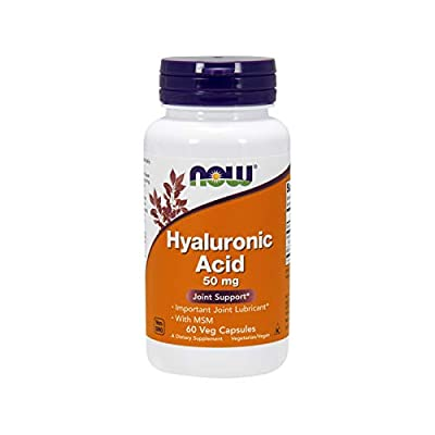 Now Foods Hyaluronic Acid Capsules Plus MSM Standard, 50 mg, 60-Count