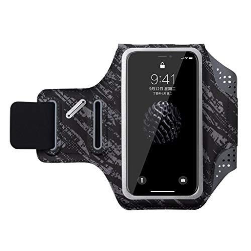 Mit phone Armband, Herren und Fitness für Frauen Armlinge der Touch arm Tasche touch, iPhone X/iPhone 8 Huawei universal Handtasche, mit einem Kopfhörer Loch wasserdicht Schlüssel Tasche - schwarz - M