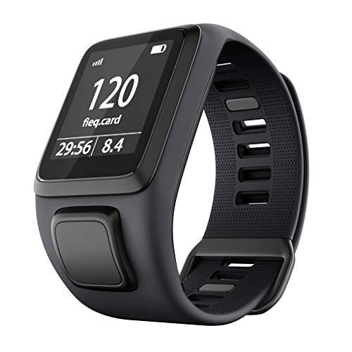 Huhu833 Sport Armband für Tomtom Adventurer, 220 MM Weiche Silikon Atmungsaktiv Uhrenarmband Schnellspanner Ersatzarmband Kompatibel für Tomtom Runner 3/Spark 3/Golfer 2 (Grau)