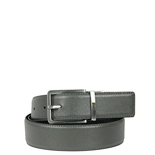 """Cintura uomo in pelle saffiano reversibile """"Class Roberto Cavalli"""", made in Italy"""