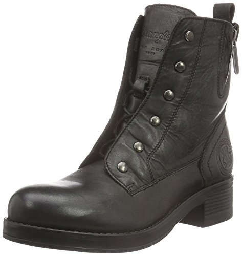 Wrangler Damen Fire Blind Leather Biker Boots Schwarz (62 Black)
