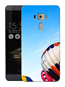 "Humor Gang Hot Air Balloons In The Sky Printed Designer Mobile Back Cover For ""Asus Zenfone 3 Deluxe"" (3D, Matte Finish, Premium Quality, Protective Snap On Slim Hard Phone Case, Multi Color)"